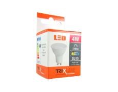 LED izzó BC TR 4W GU10 meleg fehér
