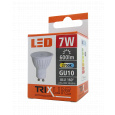 LED izzó BC TR 7W GU10 meleg fehér
