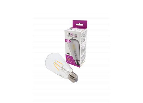 dekorációs LED izzó FILAMENT Trixline 4W ST-64 E27 meleg fehér