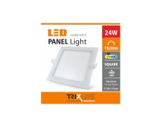 mennyezeti LED lámpa TRIXLINE – 24W négyszögletes meleg fehér