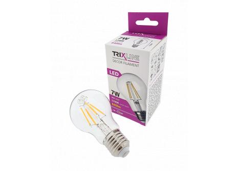 dekorációs LED izzó FILAMENT 7W A60 E27 meleg fehér