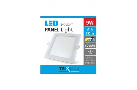 Mennyezeti LED lámpa TRIXLINE – négyszögletes 9W