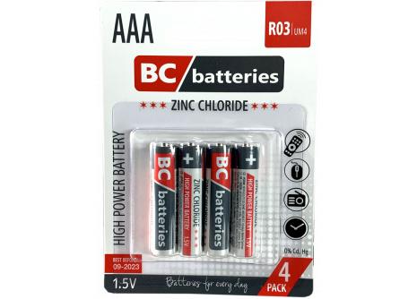 BC batteries zinkochloridová AAA mikrotužková baterie 1,5V R03