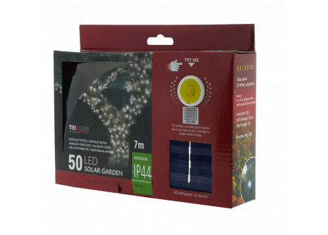 Napelemes karácsonyi LED fényfüzér TR 312 denní bílá