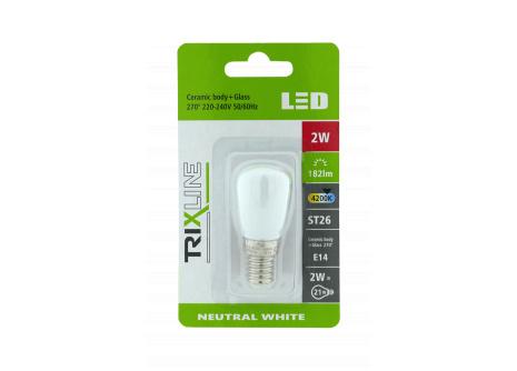 LED žárovka Trixline 2W E14 ST26 denní světlo