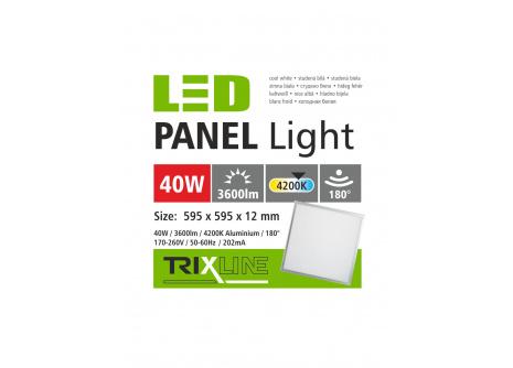 mennyezeti LED panel TRIXLINE - 40W hideg fehér