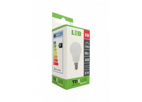 LED izzó BC TR 8W E14 A50 hideg fehér