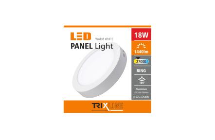 Mennyezeti LED lámpa TRIXLINE – felületre szerelhetö kerek 18W meleg fehér
