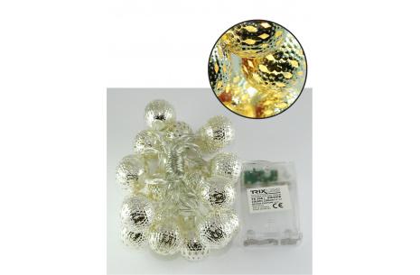 Karácsonyi LED fényfüzér TR 308 - Marokkói gömbök