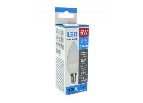 LED izzó BC TR 6W E14 C35