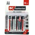 BC batteries zinkochloridová tužková AA baterie 1,5V R6