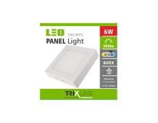 Mennyezeti LED lámpa TRIXLINE – felületre szerelhetö négyszögletes 6W hideg fehér