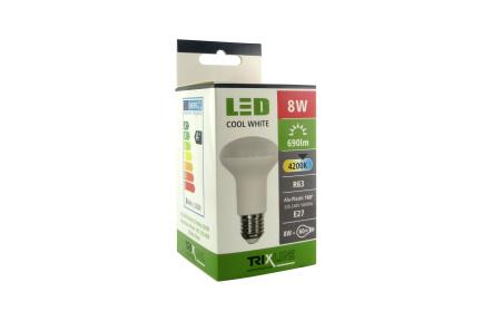 LED izzó TRIXLINE 8W R63 E27 4200K
