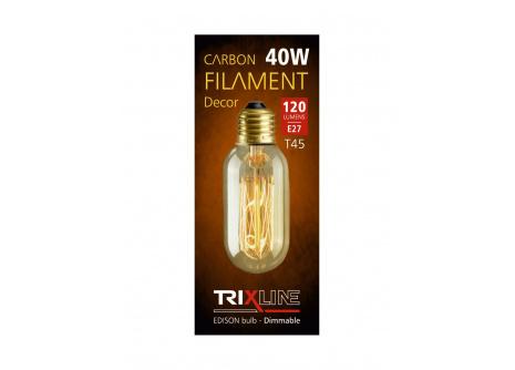 dekorációs halványítható izzó Trixline 40W E27 (T45-SC13)