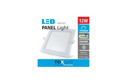 Mennyezeti LED lámpa TRIXLINE – négyszögletes 12W