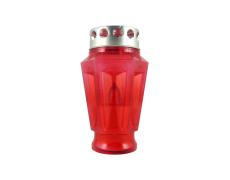 LED-es temetö gyertya váza alakú piros
