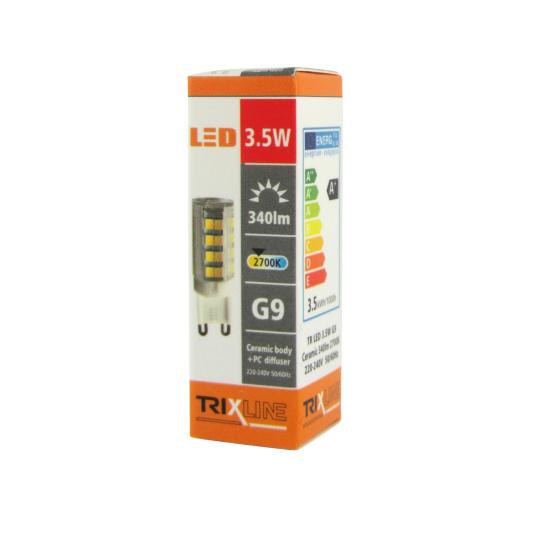 LED izzó BC TR 3,5W G9 meleg fehér