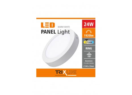Mennyezeti LED lámpa TRIXLINE – felületre szerelhetö 24W meleg fehér