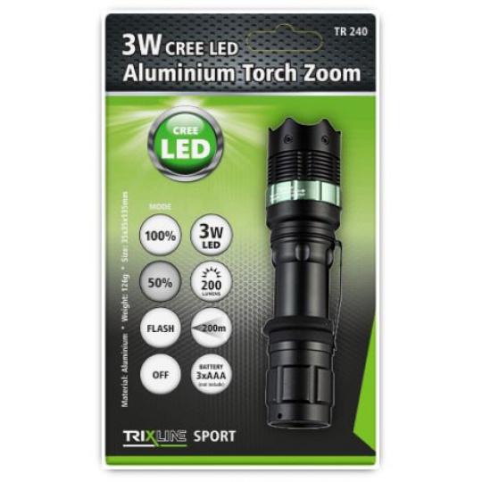 Aluminium  kézi lámpa BC 3W