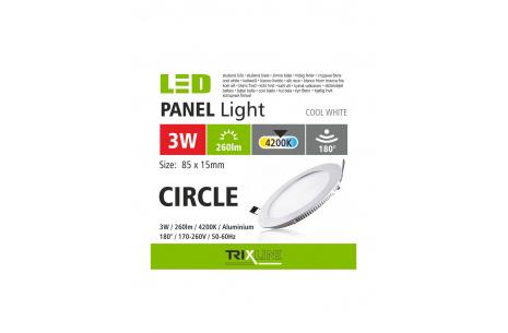 Mennyezeti LED lámpa TRIXLINE – kerek 3W