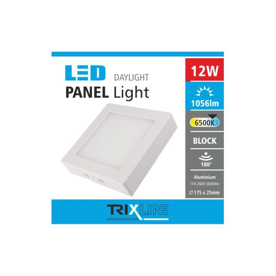 Mennyezeti LED lámpa TRIXLINE – felületre szerelhetö négyszögletes 12W