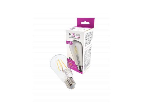 dekorációs LED izzó FILAMENT Trixline 8W ST-64 E27 meleg fehér