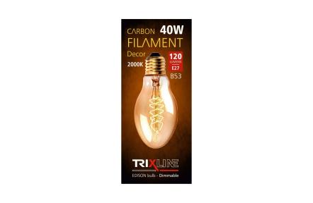 dekorációs halványítható izzó Trixline 40W E27 (B53-S32)