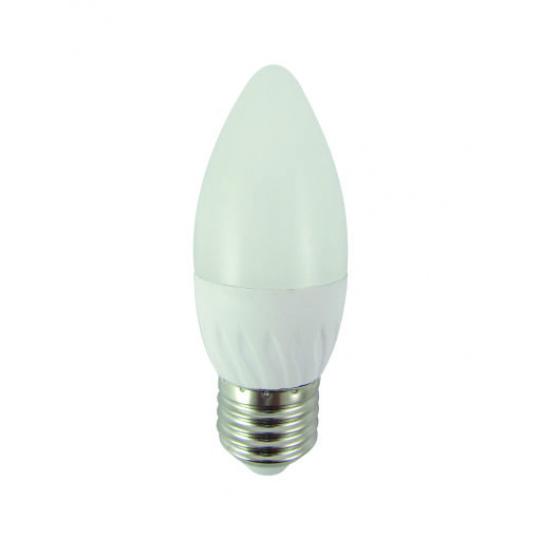 LED izzó 6W C35 E27 hideg fehér
