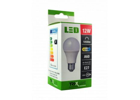 LED izzó BC TR 12W E27 A60 hideg fehér