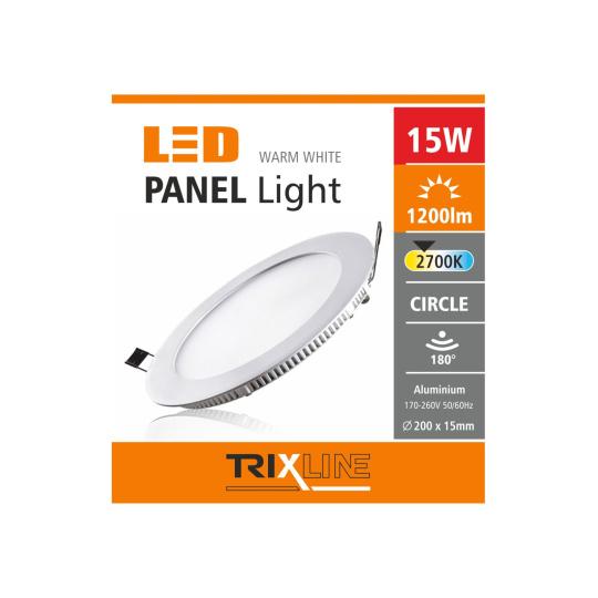 Mennyezeti LED lámpa TRIXLINE – kerek 15W