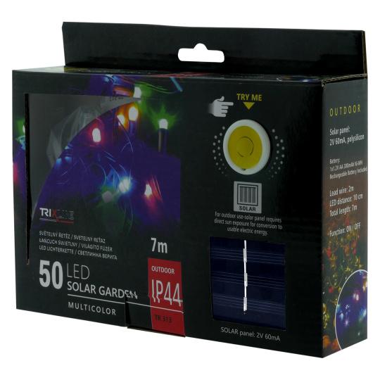 Napelemes karácsonyi LED fényfüzér TR 313 multicolor