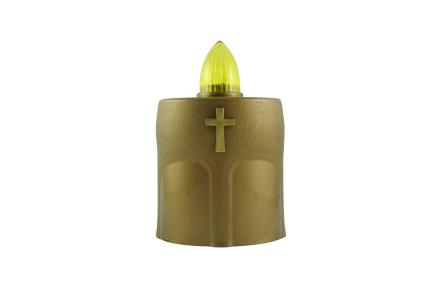 LED-es temetö gyertya kereszttel aranyszínü