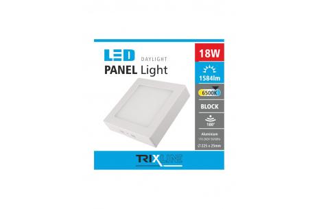 Mennyezeti LED lámpa TRIXLINE – felületre szerelt négyszögletes 18W nappali lámpa