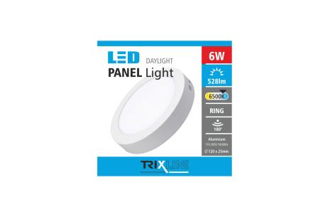 mennyezeti LED lámpa TRIXLINE 6W kerek felületre szerelt nappali lámpa