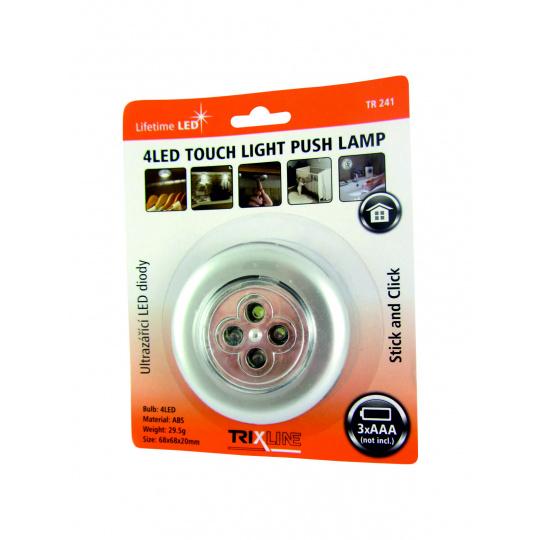 LED éjjeli mozgásérzékelös lámpa TR 241, ezüst színü