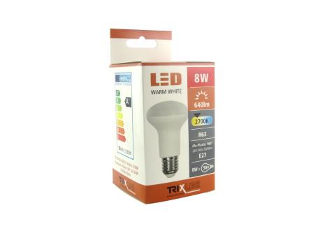 LED izzó TRIXLINE 8W R63 E27 2700K