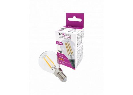dekorációs LED izzó FILAMENT 5W G45 E14 meleg fehér