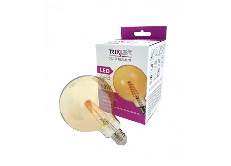 dekorációs LED izzó FILAMENT Trixline 10W G-125 E27 GOLD