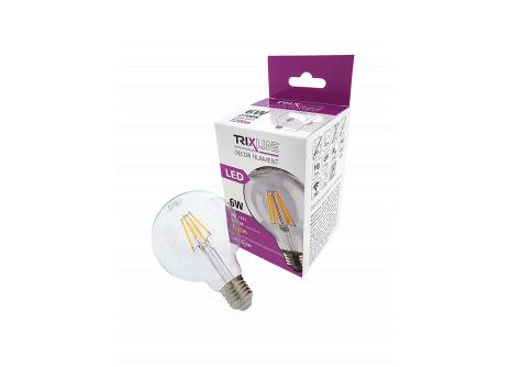 dekorációs LED izzó FILAMENT Trixline 6W G-95 E27 meleg fehér