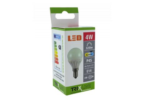 LED izzó BC TR 4W E14 P45 hideg fehér