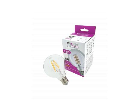 dekorációs LED izzó FILAMENT Trixline 8W G-95 E27 meleg fehér