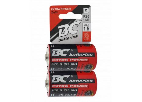 Trixline Extra power zinkochloridová baterie 1,5V R20