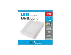 Mennyezeti LED lámpa TRIXLINE – felületre szerelhetö négyszögletes 9W nappali lámpa