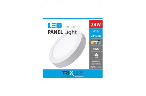 Mennyezeti LED lámpa TRIXLINE – felületre szerelhetö, kerek 24W