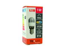 LED izzó BC TR 1W E14 ST20 meleg fehér, jégszekrényekbe, mélyhütökbe