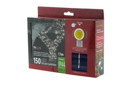 Napelemes karácsonyi LED fényfüzér TR 334 hideg fehér