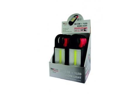 LED lámpa karabinerrel ABS felülettel TR C219 3W COB + 1