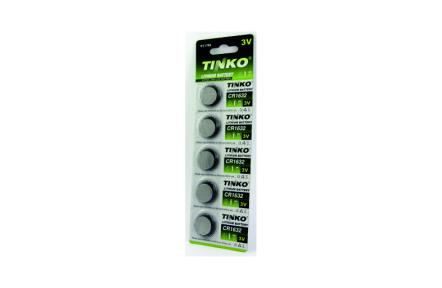 Lithíumos 3V-os gombelem TINKO CR1632