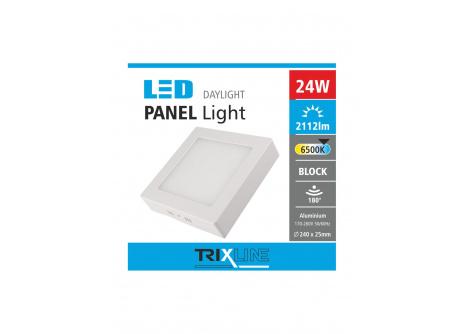 mennyezeti LED lámpa TRIXLINE – felületre szerelt négyszögletes 24W nappali lámpa