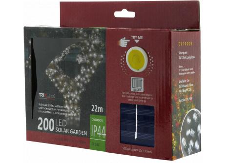 Napelemes karácsonyi LED fényfüzér TR 342 hideg fehér